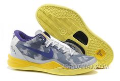 http://www.jordanaj.com/854215546-nike-zoom-kobe-8-viii-all-star-grey-purple-yellow.html 854-215546 NIKE ZOOM KOBE 8 VIII ALL STAR GREY PURPLE YELLOW FOR SALE Only $88.00 , Free Shipping!