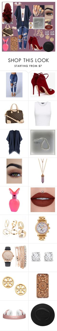 """Casual Street Wear"" by ayannalovebug ❤ liked on Polyvore featuring Gianvito Rossi, Louis Vuitton, French Connection, WearAll, Mariah Carey, Versace, Jessica Carlyle, Asprey, Tory Burch and Felony Case"