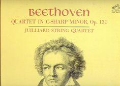 Beethoven Quartet in C Sharp Minor Juilliard Quartet LP vintage vinyl
