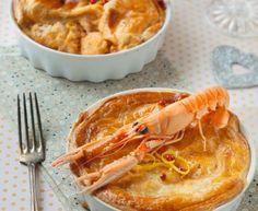 Cassolettes de langoustines et crevettes en croûte : Recette de Cassolettes de langoustines et crevettes en croûte - Marmiton