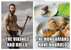 habroló – #Hungarian pastry filled with sweet mousse/cream  [Literally::: mousse-window-blind] #Vikings #meme https://dailymagyar.wordpress.com/2016/11/19/habrolo/