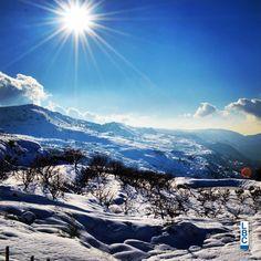 Picture from El Chouf, #lebanon. Photo from Fadi Saab. #nature #snow #livelovelebanon