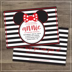 Hey, I found this really awesome Etsy listing at https://www.etsy.com/listing/232670238/minnie-mouse-birthday-party-invitation