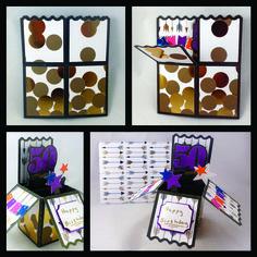 Birthday Pop Up Card - Created by Amanda Renea 50th Birthday, Pop Up, Advent Calendar, Amanda, Create, Holiday Decor, Happy, Projects, Cards