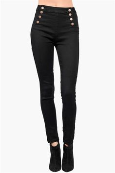 Skinny Jeans w/ Sailor Front....couldn't you  see this with a billowing soft blouse??