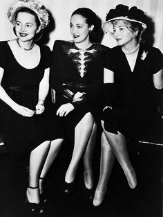 Olivia de Haviland, Dorothy Lamour, and Joan Fontaine. Olivia and Joan are sisters.