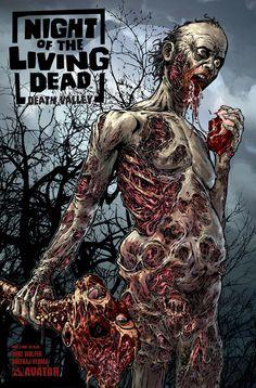 Night of the Living Dead: Death Valley #2 [Avatar] | Gore edition cover art by Matt Martin