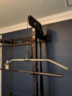 The rack-mounted Monster Lite Slinger™ is a cable-pulley and band resistance system that can deliver the same training benefits of a traditional stand-alone Lat Pulldown Machine in a more space-efficient and cost-efficient format. Commercial Fitness Equipment, Crossfit Equipment, Home Gym Equipment, No Equipment Workout, Dream Home Gym, Gym Room At Home, Gym Shed, Crossfit Home Gym, Home Made Gym
