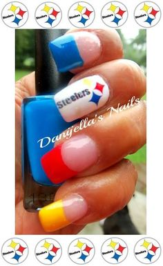 #Steelers #nails #nailart