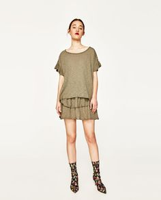 ZARA - WOMAN - TOP WITH FRILLED SLEEVE