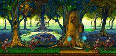 Title:Elven forest Pixel Artist:Ransom.00