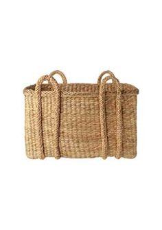 double handle storage basket - sturdy water hyacinth storage baskets in...