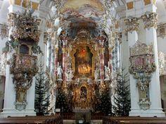 Pilgrimage Church of Wies-UNESCO Town of Steingaden,  District of Weilheim-Schongau,  Region of Upper Bavaria,  State of Bavaria (Bayern)