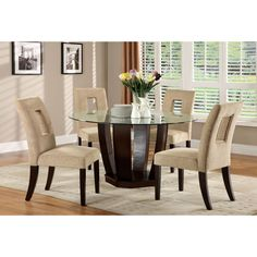 Shop for Dining Room Sets in Kitchen & Dining Furniture. Buy products such as Mainstays 5 Piece Dining Set, Multiple Colors at Walmart and save. Round Dining Table Sets, Kitchen Dining Sets, Glass Top Dining Table, 5 Piece Dining Set, Dining Room Sets, Dining Table Chairs, Dining Room Furniture, Glass Tables, Furniture Design