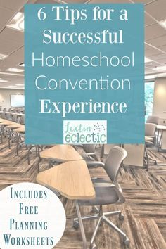 How to plan for a successful homeschool convention experience and free planning worksheets for planning your convention trip.