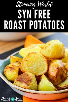 Syn Free Roast Potatoes | Slimming World Recipes - pinchofnom.com