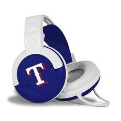 Texas Rangers White-Royal Blue Fan Jams Over-Ear Headphones $69.95