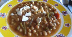 Fabulosa receta para Garbanzos con tagarninas. Un plato calentito para éstos fríos...ummmm!!