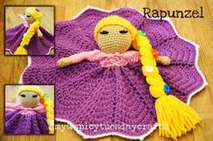 Rapunzel Princess Lovey Blanket find free patterns in our post