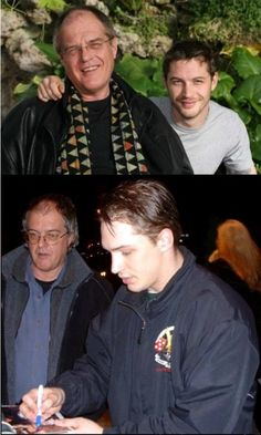 Tom and his dad, Chips. Just because. It makes me sad to know he will eventually lose his gorgeous hair but no one can rock the bald head like Tom. ( :