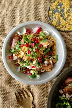 Hot Potatoes, Chickpea & Pomegranate ChaatMUST MAKE!! Can't say enough good things about this one!!NaiveCookCooks.com