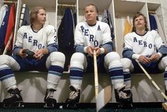 In addition to bringing Howe out of retirement, the Aeros signed both of his sons. Mark Howe (right) was the WHA's Rookie of the Year in 1973-74 while Marty (left) scored 90 points.