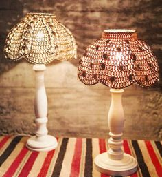Pantalla para lampara tejida a crochet Com hacer una pantalla para lámpara tejida OjoconelArte.cl |