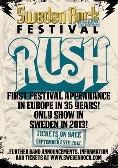 rush concert posters | Concert Posters/Flyers