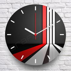 Cool Clocks, Unique Wall Clocks, Clock Art, Diy Clock, Large Wood Clock, Wall Clock Design, Modern Clock, Led Wall Sconce, Crafts