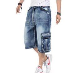 39.55$  Watch now - https://alitems.com/g/1e8d114494b01f4c715516525dc3e8/?i=5&ulp=https%3A%2F%2Fwww.aliexpress.com%2Fitem%2F2016-New-Arrival-High-Quality-Mens-Loose-Denim-Cargo-Short-Denim-Hip-Hop-baggy-Pants-Shorts%2F32668790942.html - 2016 New Arrival High Quality Mens Loose Denim Cargo Short Denim Hip Hop baggy Pants Shorts Jean Plus Size 36 38 40 42 46