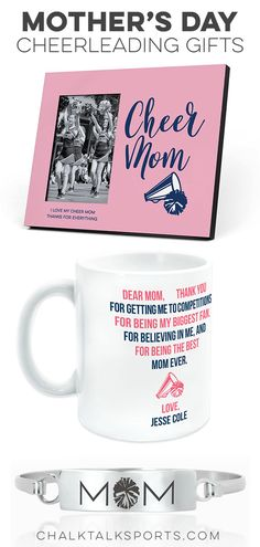 Cheer gifts for Mom. Mother's Day cheer gifts and ideas for the cheer mom. Cheerleader and cheer mom. Cheerleading Gifts, Cheer Gifts, Mother Day Gifts, Gifts For Mom, Dear Mom, Good Cheer, Easter Baskets, Thankful, My Love