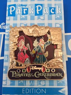 Disney Park Pack Pin Sept 2016 Pirates Red Head Var. 4 #118112 Final Release  | eBay