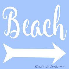 BEACH STENCIL TEMPLATE pattern background arrow craft paint art templates…