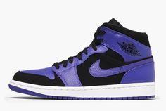 019efbca304 New Air Jordan 1 Mid Purple Black Dark Concord White 554724-051 Jordan Ones,