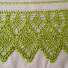 Easiest Crochet Frills Border Ever! Crochet Edging Patterns, Crochet Lace Edging, Crochet Borders, Crochet Diagram, Thread Crochet, Filet Crochet, Baby Knitting Patterns, Crochet Doilies, Easy Crochet