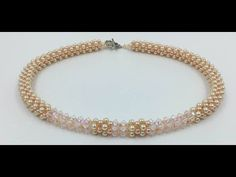 Cubic Right Angle Weave Necklace - YouTube