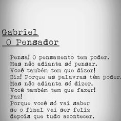 SE LIGA AÍ - Gabriel O Pensador ESSE CARA ENTENDE /// Words Quotes, Me Quotes, Sayings, Mini Texto, Cool Phrases, Writers And Poets, The Words, Sweet Words, Powerful Words