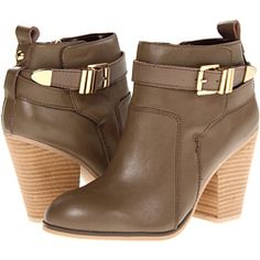 Osprey ankle boot in taupe by Report. MSRP: $130. Sale price: $39.