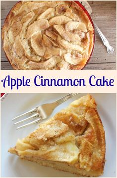 Apple and Cinnamon Cake, a healthy cake loaded with apples, a perfect breakfast, snack or dessert cake recipe. A yummy Fall dessert. via @https://it.pinterest.com/Italianinkitchn/