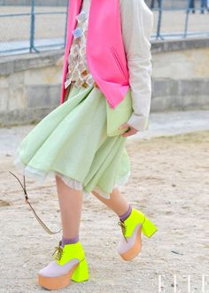 Love pastel with a shot of neon #dunelondon #pastel #neon
