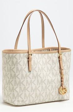 b71940de2cd8ad shopstyle.com: MICHAEL Michael Kors 'Jet Set - Small' Travel Tote Vanilla