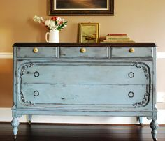 great colors, like the redone furniture