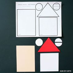 Shape Santa craft - rectangle