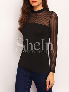 Negozio Camicia trasparente nera on-line. SheIn offre Camicia trasparente nera & di più per soddisfare le vostre esigenze di moda.