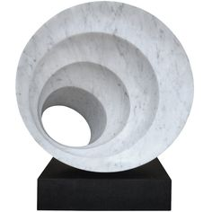 Large Carrara Marble Sculpture on a Granite Base by A. Amato
