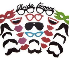 Photo booth props / Wedding photo booth prop