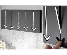 Arrow Wieszak Wiszący Czarny Metalowy 45x20x5cm - 2