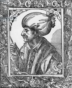 Soliman the Magnificent (1495-1566), Ottoman sultan in 1520-1566. During his reign, the Ottoman empire become an international power. Engraving
