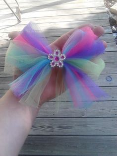 Make a hair bow with your tulle scraps...