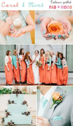 coral mint wedding color board,coral mint wedding ideas